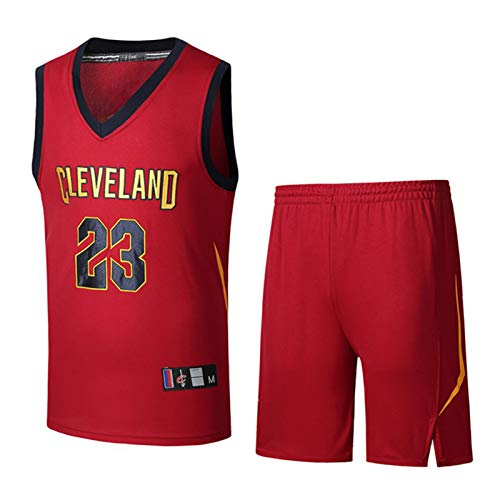 DDOYY LeBron James # 23 Cavaliers - Juego de baloncesto sin mangas, camiseta de baloncesto sin mangas, para deportes al aire libre, fitness, S-3XL-rojo-XL