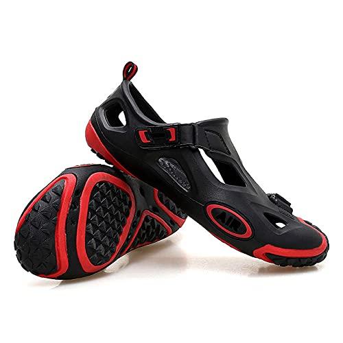 Quadruped Crab Sandalias de Hombre,Zapatos de Agua al Aire Libre de Verano Unisex,Sandalias de Playa para Hombre,Zapatos Ligeros con Agujeros Huecos,Zapatillas de Deporte Red EU38