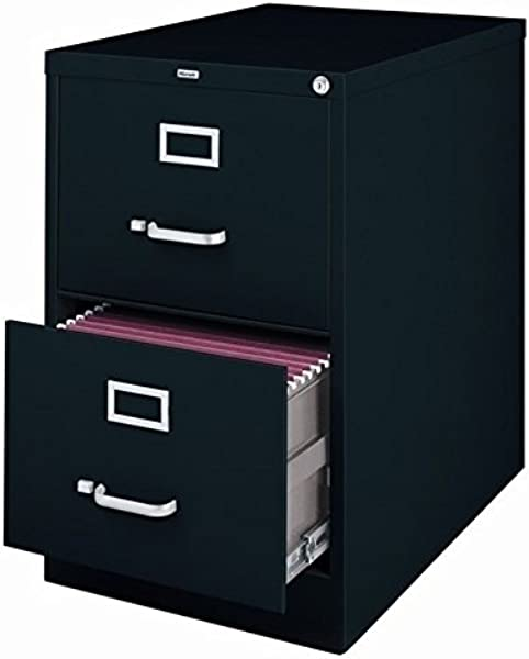 2 Drawer Commercial Legal Size File Cabinet Finish Black