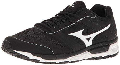 Mizuno Men's Synchro mx Baseball Shoe, Black/White, 9.5 D US