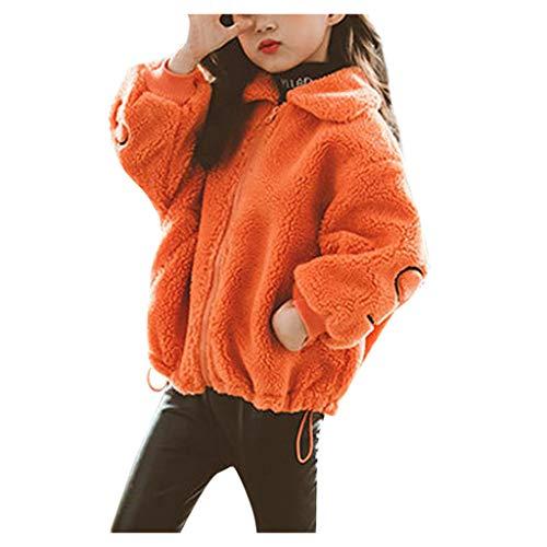NUSGEAR Baby Mädchen Mäntel Winter Warm Kleidung Daunenmantel Kinder losen Lamm Plüschmantel,Kinder Jacken Dicke Coat Wolljacke Fleece