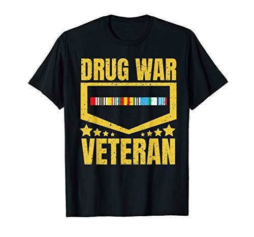 Veteran Shirt Drug War Tees Men Women Teens USA Freedom Gift
