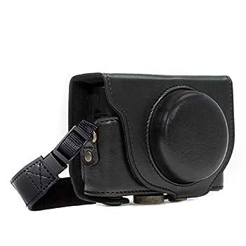 MegaGear MG596 Sony Cyber-shot DSC-HX99 DSC-HX95 DSC-HX90V DSC-HX80 Ever Ready Leather Camera Case with Strap - Black