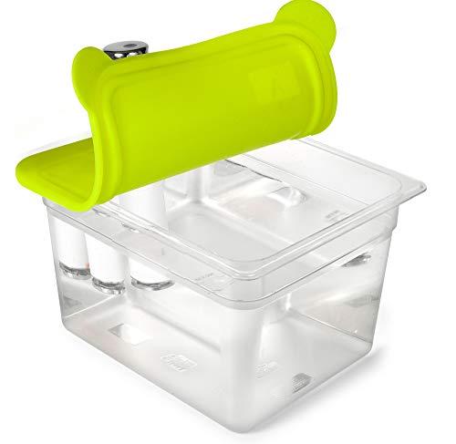 everie Sous Vide Container 12Quart mit faltbarem Silikon-Deckel für chefsteps Joule Sous Vide Tauchsieder Thermostat Herd (evc-cs-gj)