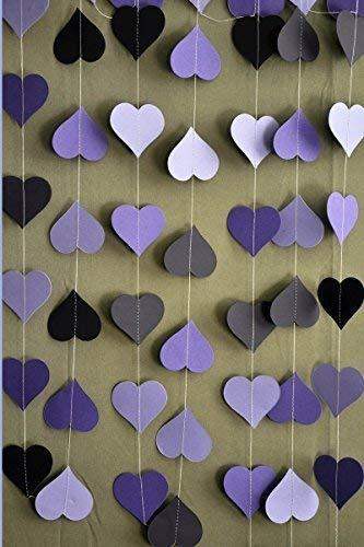 Boston Creative company LLC Wedding Heart Garland Paper Garland (Purple)