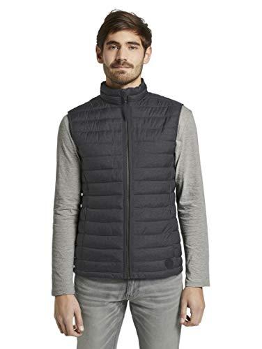 TOM TAILOR Herren Jacken & Jackets Leichte Weste Grey Melange Design,XL