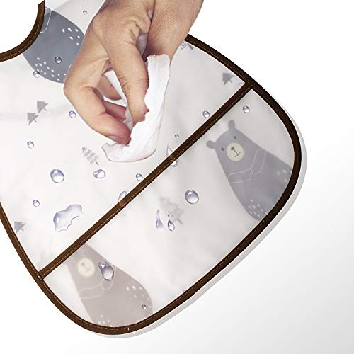 ベビー食事用防水エプロン スーパービブ ソフトスタイ Smart-JP 出産御祝い 赤ちゃん防水よ
