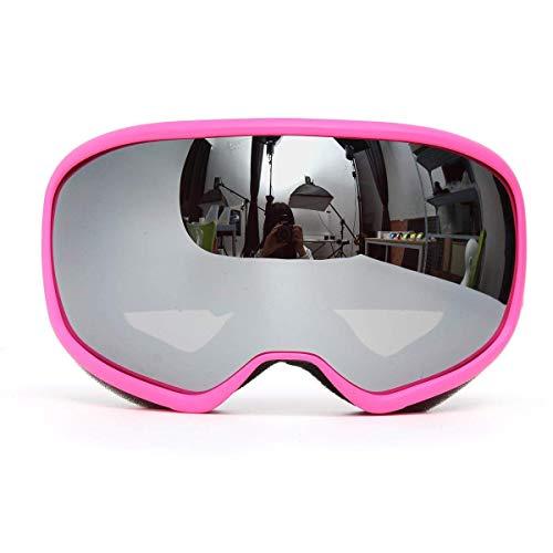 OutingStarcase. Rosa Skibrille Doppel-Objektiv Anti-Fog UV Snowboard Snowmobile Motorradbrille Motorradteile Motorrad-Werkzeug