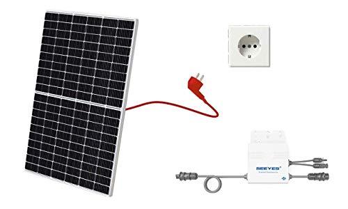 Balkonkraftwerk, Mini-Solaranlage, Plug and Play, 325 inkl. Anschlusskabel und Schukostecker