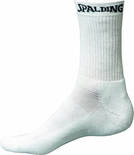 Spalding, Calzini da Uomo, 3 Pezzi, Bianco (Blanc), 41-45