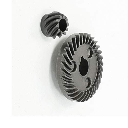 Aexit Juego de piñones de engranajes cónicos en espiral de la pieza de reparación para la amoladora angular (model: Y5121IVVIII-4178ZD) de Hitachi 100