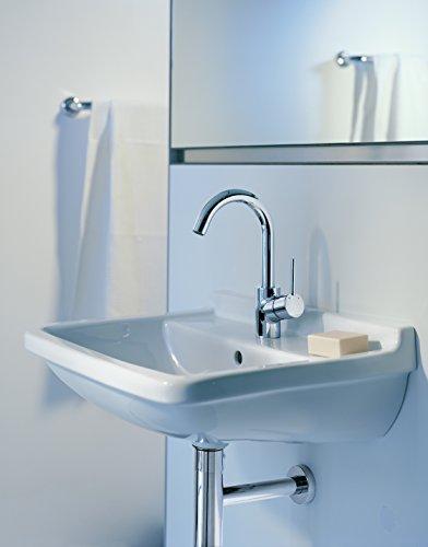 Hansgrohe – Einhebel-Waschtischarmatur, Ablaufgarnitur, Schwenkauslauf 120°, Chrom, Serie Talis S - 2