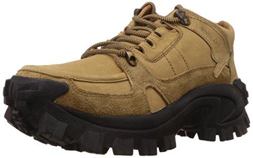 Woodland Men's Camel Leather Sneakers - 10 UK/India (44 EU)
