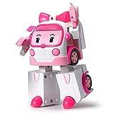 Robocar Poli - Robocar Transformable Ambre - Robot ou Voiture - 10 cm - Jouet Maternelle