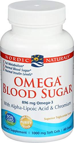 Nordic Naturals - Omega Blood Sugar, With Alpha-Lipoic Acid & Chromium, 60 Soft Gels