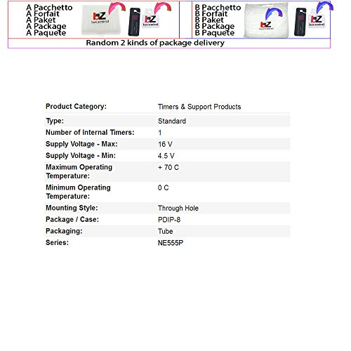10 TEILE/LOS NE555 NE555P NE555N 555 Timer DIP-8 TEXAS