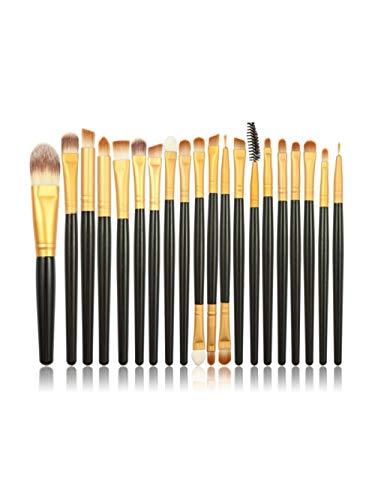 Fanxp® 20 pièces ensembles de pinceaux de maquillage Kits de pinceaux cosmétiques professionnels multifonctions-noir et or