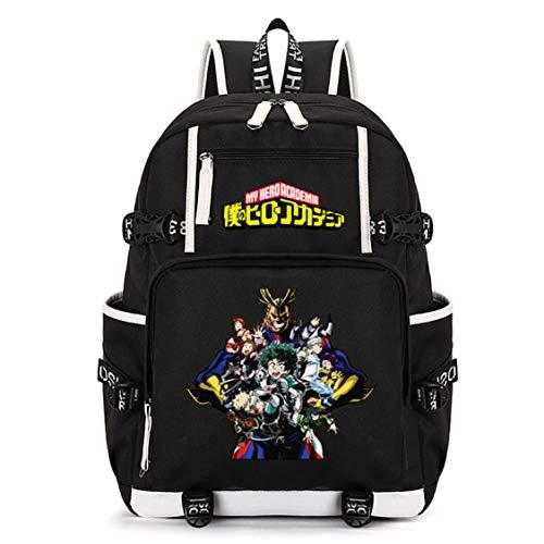 Siawasey My Hero Academia Anime Boku no Hero Academia Cosplay Mochila Daypack Librero Portátil Bolsa escolar