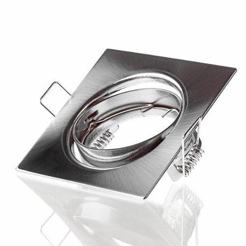 Sweet Led Cadre de montage pivotant pour spot LED et halogène, bar, rectangulaire, Chrome/brossé Blanc » avec douille GU10 Moderne 6 X Chrom Gebürstet