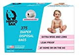 Hippo Sak Diaper Disposal Bags, 375 Count, White
