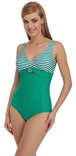 Merry Style Damen Badeanzug 1Q51 (Grün/Grün, 40)
