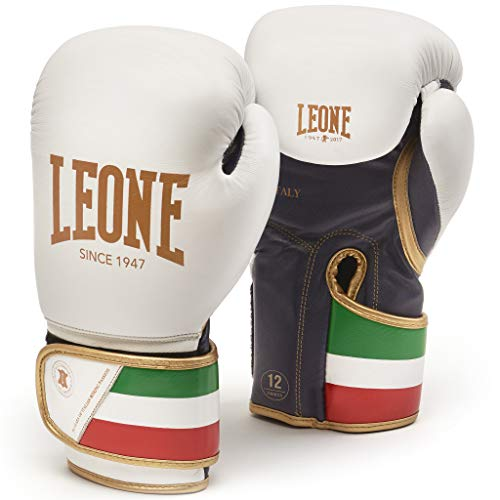 LEONE 1947 GN039 Boxhandschuhe, Unisex – Erwachsene, Weiß, 10OZ