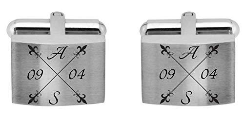 Juwelier Schönschmied - Manschettenknöpfe inklusive Wunschgravur aus Edelstahl mit Amazon Konfigurator gestalten - ACM13-variant7