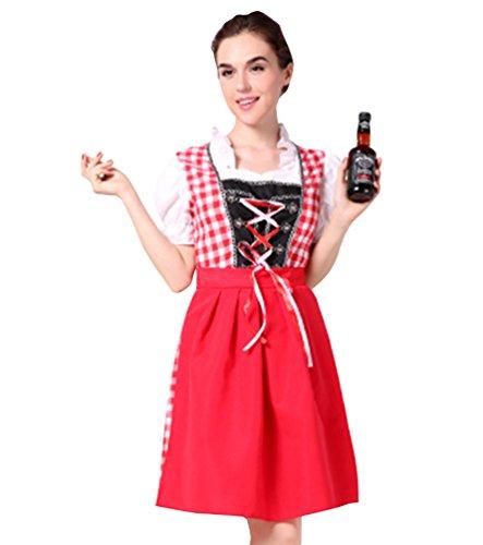 Anguang Mujer Ropa de Cerveza Disfraz de Adultos Uniforme Cosplay de Vestuario Carnaval Estilo 3 L