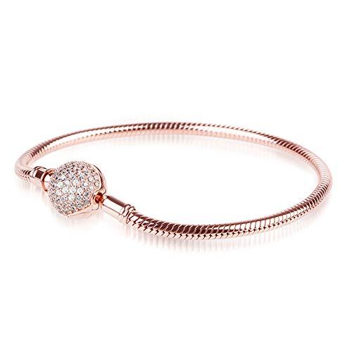Endearing Snake Chain Charm Bracelet