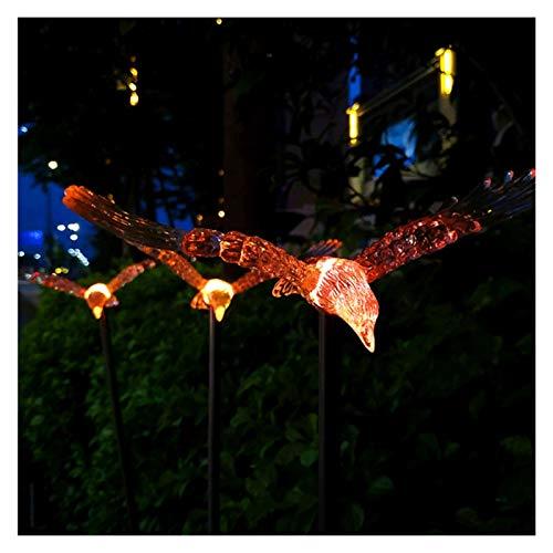 JIADUOBAO Little Bird - Luz solar de jardín para exteriores, IP65, impermeable, para patio, patio, patio, camino, festival, decoración (1 paquete de 3 pájaros)
