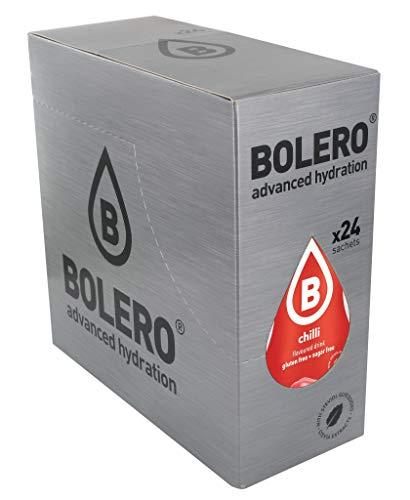 Bolero Bebida Instantánea Sin Azúcar, Sabor Chilli - Paquete de 24 x 9 gramos - Total 216 gramos