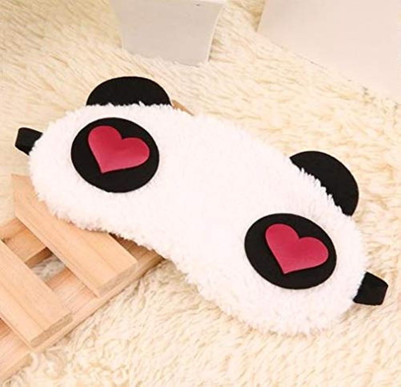 無意識生む猫背NOTE かわいいパンダ睡眠フェイスアイマスク目隠しアイシェード旅行睡眠アイエイドドロップシッピング