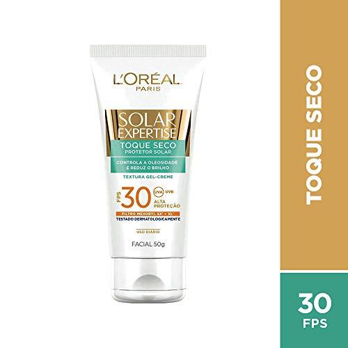 Protetor Solar L'Oréal Paris Solar Expertise Facial Toque Seco, FPS 30, 50g