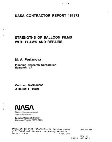 Strengths of balloon films with flaws and repairs (English Edition)