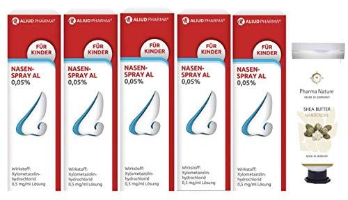 Nasenspray al 0,05% - 5 x 10 ml Sparset inkl. Handcreme ODER Duschbad von Pharma Nature