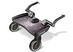 Lascal BuggyBoard Maxi, buggy voetplaat voor kinderen met een groot vloeroppervlak, kinderwagenaccessoires voor kinderen van 2-6 jaar (22 kg), compatibel met bijna elke buggy en kinderwagen, zwart*