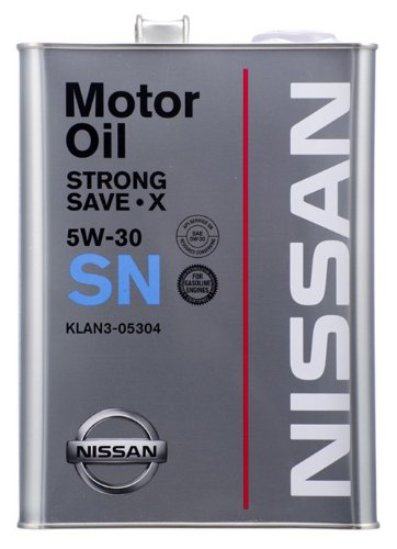 NISSAN エンジンオイル SNストロングセーブ・X 4L 5W30 鉱物油  [HTRC3]