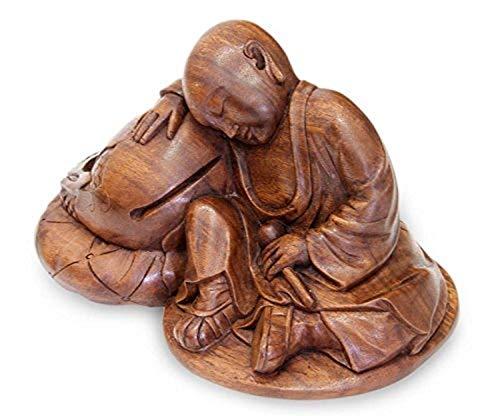 NOVICA Quiescent Buddha Wood Sculpture