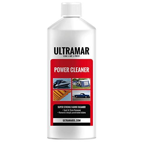 Ultramar SUPER STARKER TUCHREINIGER – Power Cleaner Immer dann, wenn Nichts hilft. Entfernt Massive Verschmutzung und tiefsitzende Flecken aus Ihrer Persenning, Ihrem Zelt oder Cabrioverdeck