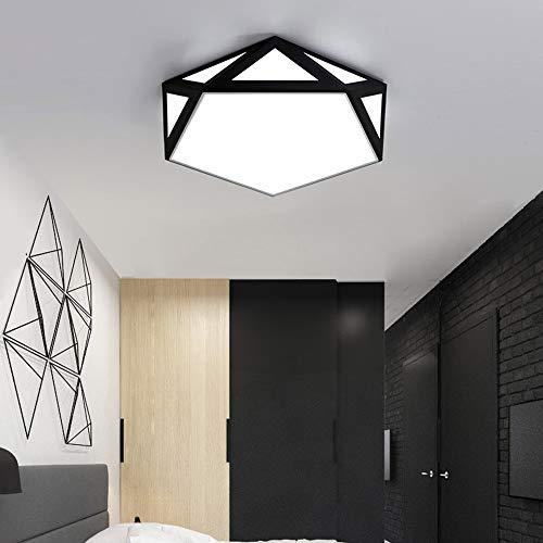 YesVCTR Lámpara Creativa pentagonal Hogar Iluminación LED de la lámpara de la Sala de Estar Dormitorio de Techo Regulable con Control Remoto Lámpara de Techo (Color : Stepless dimming)