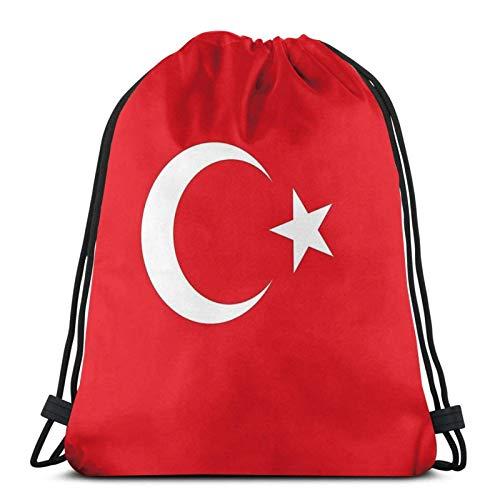 Jard-Baby Mochila deportiva con diseño de la bandera de Turquía de Estambul, con cordón, para gimnasio, diseño de la bandera de Turquía