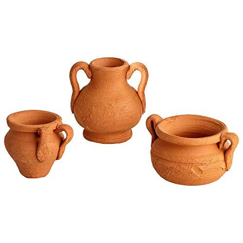 MaMeMi Terracotta Töpfe, Krippenzubehör, Krippenbedarf/Zubehör für Weihnachtskrippen