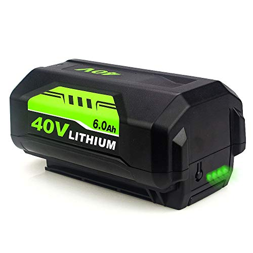 6.0Ah OP4026 40 Volt Lithium Battery Replacement for Ryobi 40V Battery OP4050A OP40601 OP4026A OP4040 OP4030 OP4050 OP4015 OP40261 OP40201 OP40301 OP40401 with LED Indicator