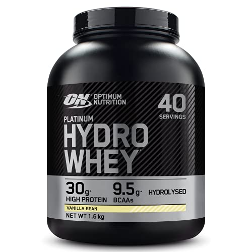 Optimum Nutrition Hydro Whey Hydrolised Whey Protein Isolate with Essential Amino Acids, Glutamine and BCAA, Vanilla, 40 Servings, 1.6kg
