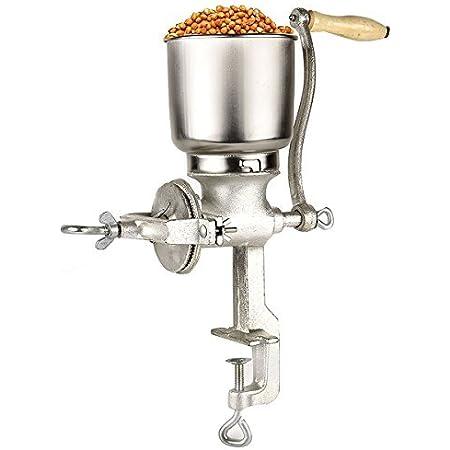 pimienta de coco frijol Molinillo de grano manual arroz m/áquina de molienda de cocina molino de caf/é con manivela para moler ma/íz