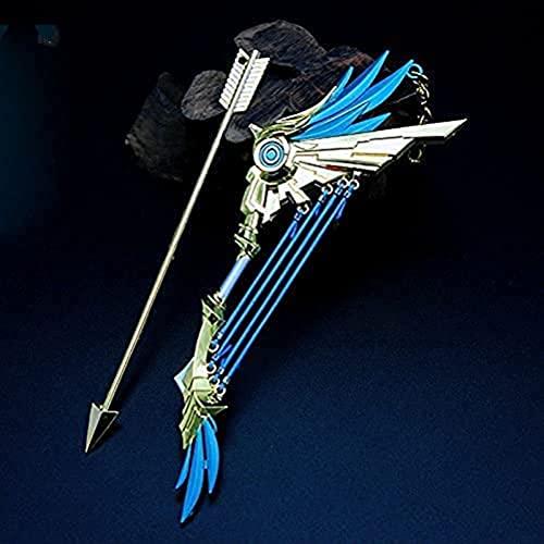 22cm Anime Cute Mini Portachiavi, per Genshin Impact Portachiavi Anello in Metallo Portachiavi Gioco Arma Accessori per Giocattoli Collezione Regalo Decorazione