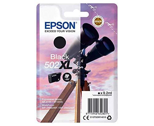 Epson 502 Serie Binocolo, Cartuccia originale getto d inchiostro, Formato XL, Nero