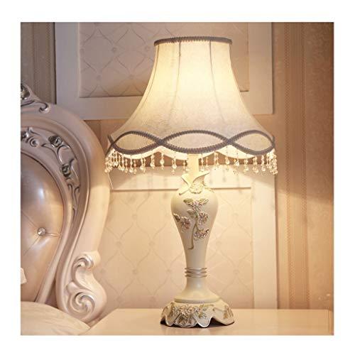 Lampe de table chambre lampe de bureau salon décoration table de chevet lumière style européen tissu abat-jour décoration créative vintage