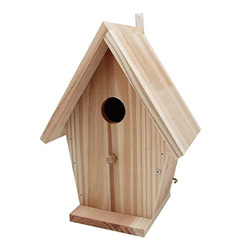 Futterspender Vogelkäfig Futterhaus Für Vögel - Unbehandeltem Holz Mit Kindgerechtem Holzhammer Leim Und Dübeln,18 * 13 * 25CM