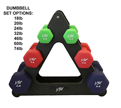J Fit Dumbbell Set With Durable Rack